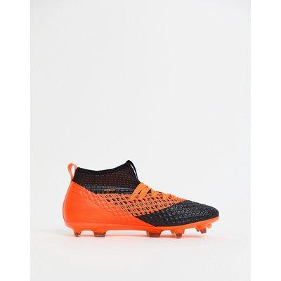 Puma – Football Future 2.2 Netfit – Fußballboots feste Böden, orange, 104830-02-Schwarz