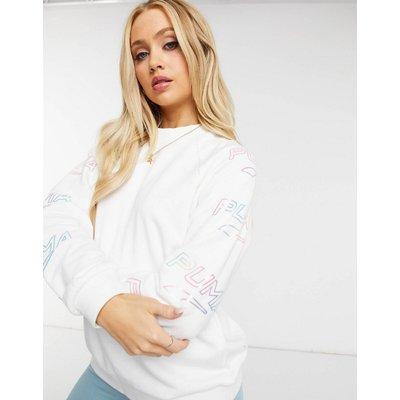 Puma – Glow Pack – Langärmliges Shirt in Weiß