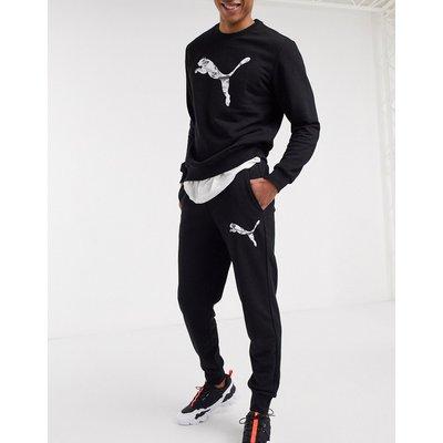 Puma – Schwarze Jogginghose mit Logo