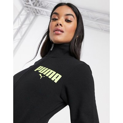 Puma – Schwarze Trainingsjacke mit Reißverschluss