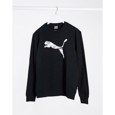 Puma – Sweatshirt mit Rundhalsausschnitt in Schwarz | PUMA SALE