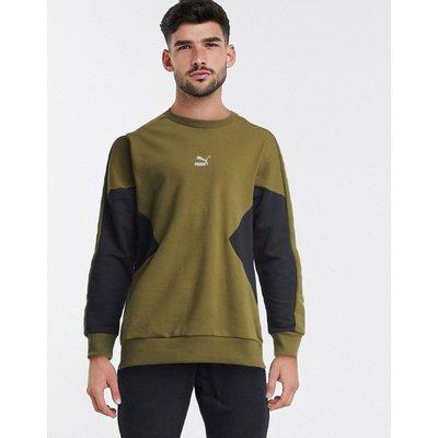 Puma – TFS – Sweatshirt in Khaki-Grün