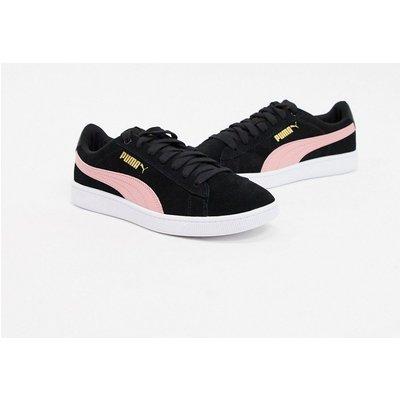 Puma – VIKKY V2 – Sneaker in Schwarz und Rosé
