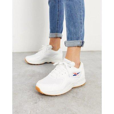 Reebok – Torch Hex – Weiße Sneaker mit blaurotem Detail