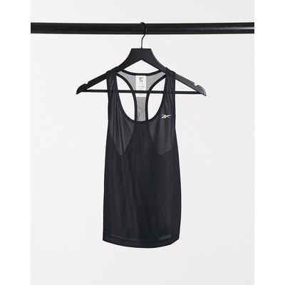 Reebok - Trägershirt mit Rücken-Netzgewebe in Schwarz