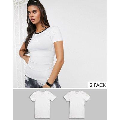 REEBOK Reebok – Zweierpack weiße T-Shirts