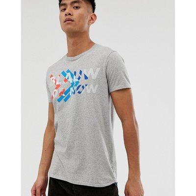 Scotch & Soda – Graues T-Shirt mit Grafik