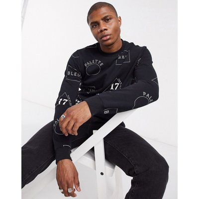 Scotch & Soda – Bedrucktes Sweatshirt-Navy