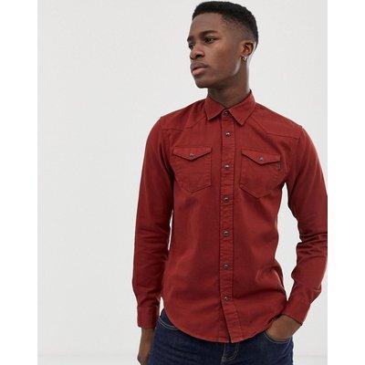 Scotch & Soda – Gefärbtes Westernhemd in regulärer Passform-Rot