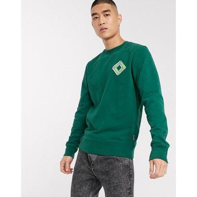 Scotch & Soda – Klassisches Sweatshirt mit Rundhalsausschnitt-Grün