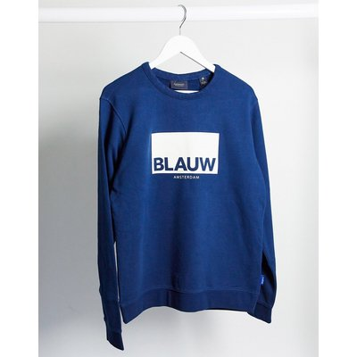 "Scotch & Soda – Signature-Sweatshirt mit ""Blauw""-Print"
