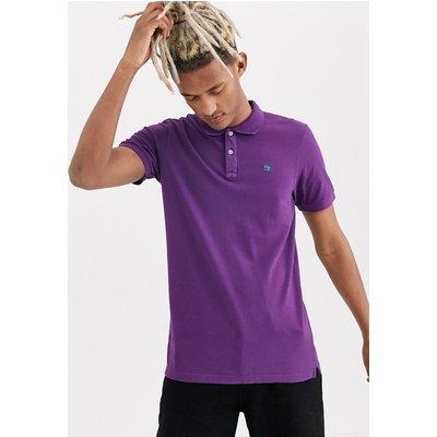 Scotch & Soda – Stückgefärbtes Polohemd-Violett