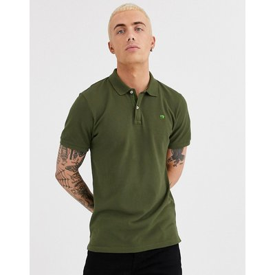 Scotch & Soda – Stückgefärbtes Polohemd-Grün