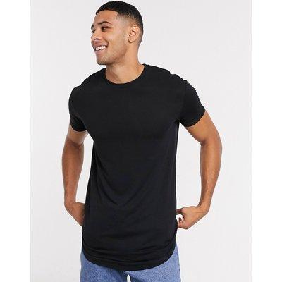 Selected Homme – Colin – Langärmliges T-Shirt mit Rundhalsausschnitt-Schwarz
