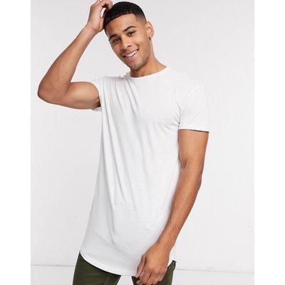 Selected Homme – Colin – Langärmliges T-Shirt mit Rundhalsausschnitt-Weiß