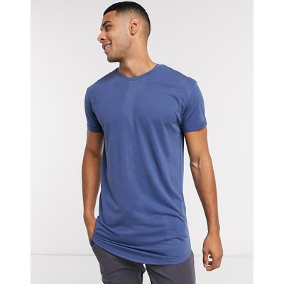 Selected Homme – Colin – Langärmliges T-Shirt mit Rundhalsausschnitt-Blau