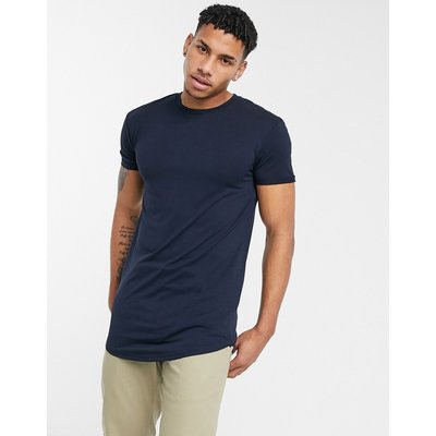 Selected Homme – Colin – Langärmliges T-Shirt mit Rundhalsausschnitt-Navy