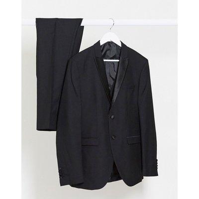 Selected Homme – Schmal geschnittene Smokingjacke aus Wolle in Schwarz