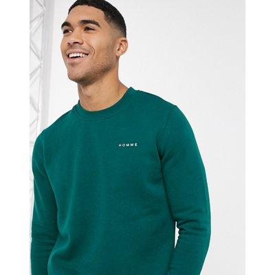 Selected Homme – Sweatshirt mit Rundhalsausschnitt-Grün