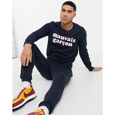Selected Homme – Sweatshirt mit Rundhalsausschnitt-Navy