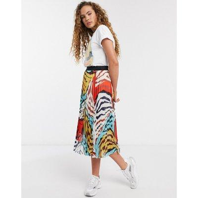Soaked In Luxury animal print midi skirt-Multi