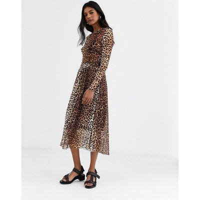 Soaked In Luxury leopard print skirt-Multi