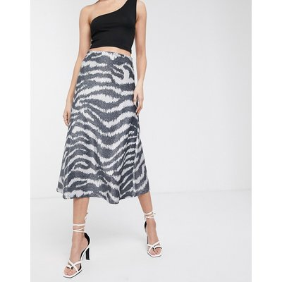 Soaked In Luxury zebra print a-line skirt-Multi