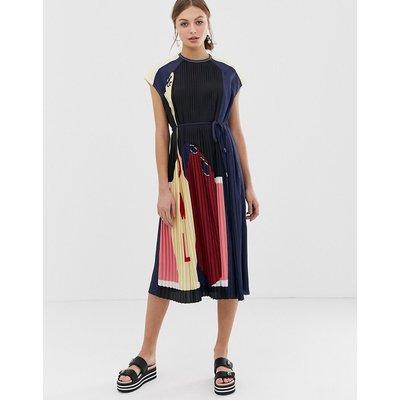 Sportmax Code bowling colour block midaxi dress-Multi