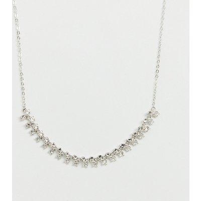 Ted Baker – Princess – Halskette mit Glitzerdesign-Silber