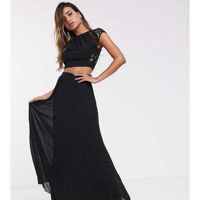 TFNC pleated maxi skirt in black