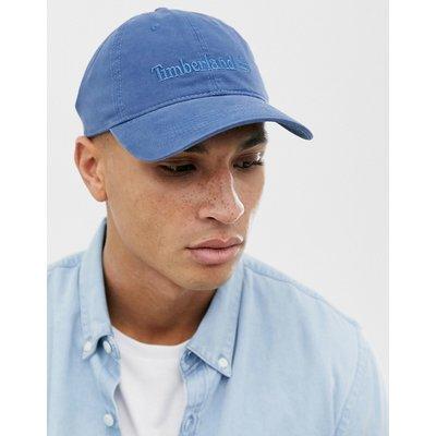 Timberland – Blaue Baseballkappe aus Baumwolle