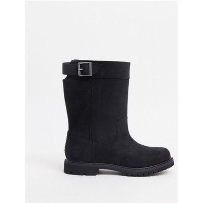 Timberland – Nellie – Schwarze Stiefel zum Überziehen