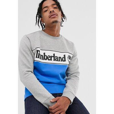 Timberland – Sweatshirt mit Bahnendesign und Logo-Mehrfarbig