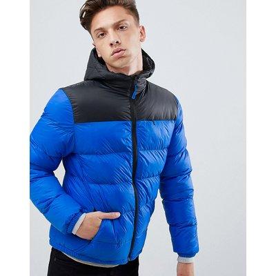 Tokyo Laundry – Jacke mit Steppbahnen und Kapuze-Blau