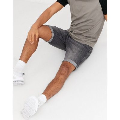Tom Tailor – Jeansshorts mit 5 Taschen in Grau