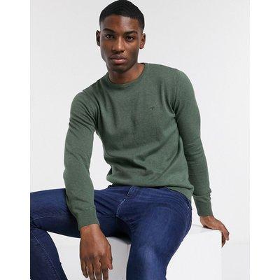 Tom Tailor – Schlichter Pullover in Grün mit Rundhalsausschnitt