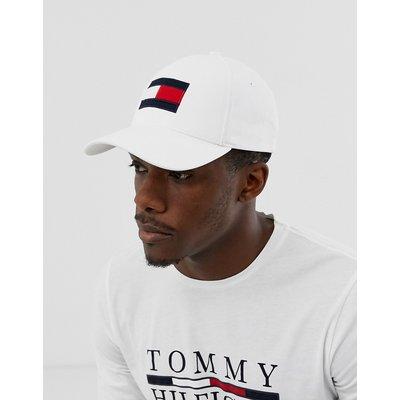 Tommy Hilfiger – Baseballkappe mit charakteristischem Logo-Weiß