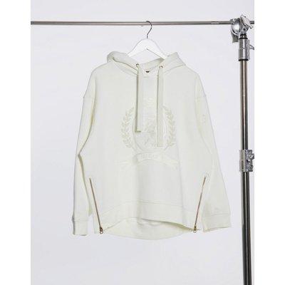 Tommy Hilfiger Collections – Kapuzenpullover mit Wappenaufnäher und Logo in Weiß