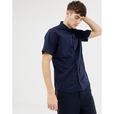 Tommy Hilfiger – Kurzärmliges Hemd aus Baumwolle-Blau