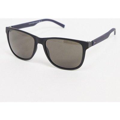 Tommy Hilfiger – Quadratische Sonnenbrille mit Schwarz