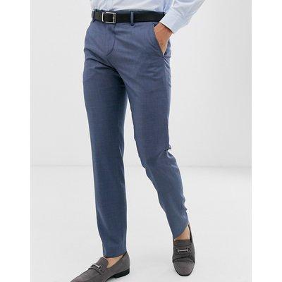 Tommy Hilfiger – Schmale, unifarbene Anzughose-Blau