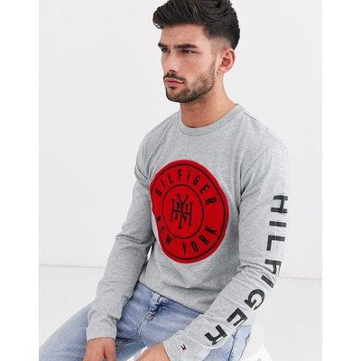 Tommy Hilfiger – Seal – Langärmliges T-Shirt-Grau