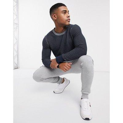 Tommy Hilfiger – Zweifarbiger Pullover-Schwarz