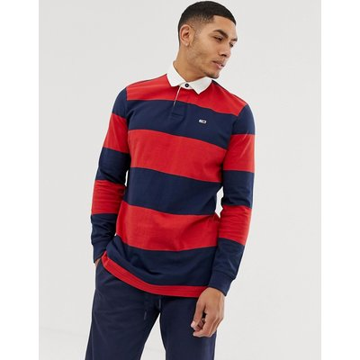 TOMMY HILFIGER Tommy Jeans – Tommy Classics – Rugby-Hemd-Schwarz