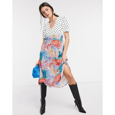 Traffic People drop hem tea dress in floral-Multi
