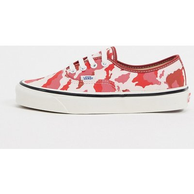 Vans Authentic – 44 DX – Sneaker mit rotem Military-Muster-Mehrfarbig