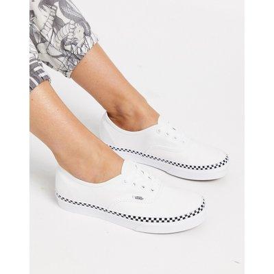 Vans Authentic – Foxing – Sneaker in Echtweiß mit Karodesign