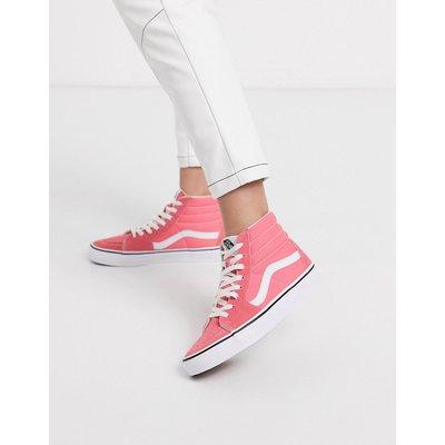 Vans Authentic – SK8-Hi – Schuhe in Erdbeerrot-Rosa und Echtweiß