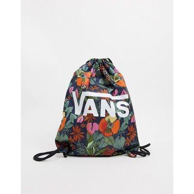 Vans – Benched – Tasche mit buntem Tropenmuster-Mehrfarbig