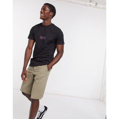 Vans – Easy – Schwarzes T-Shirt mit Box-Logo